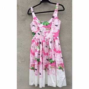 French connection pink floral dress size 8